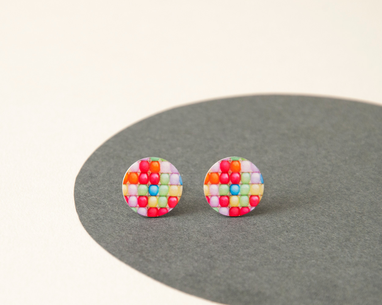 colourful Stud Earrings