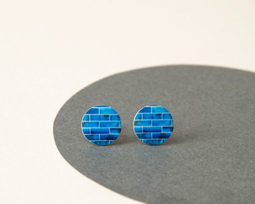blue Studs Earrings