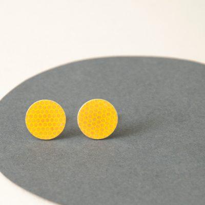 Yellow stud earrings