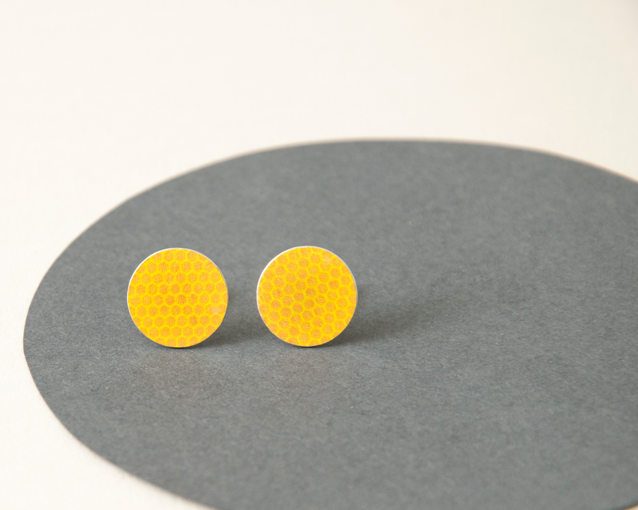 Yellow stud earrings