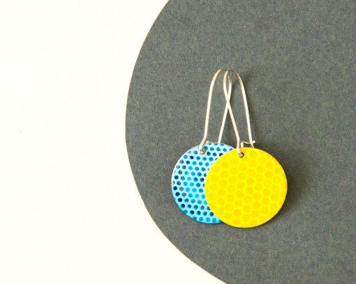 Light blue reversible earrings