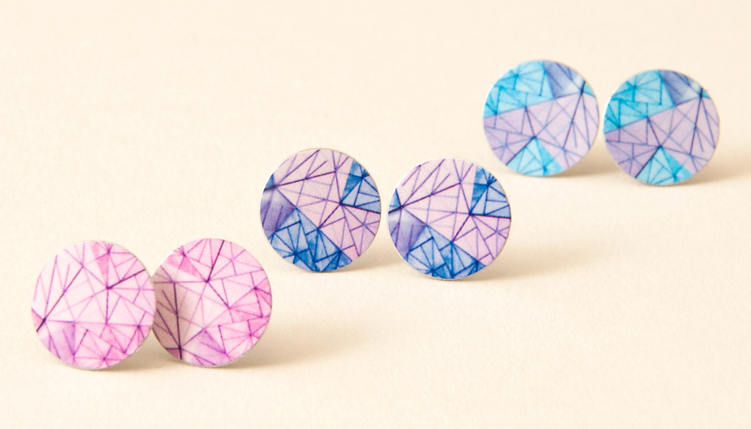 New Melbourne inspired spring coloured Studs