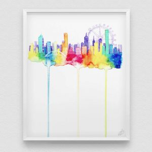 Julie Does Art - Melbourne Skyline print