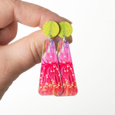 Gum flower long Australian Earrings